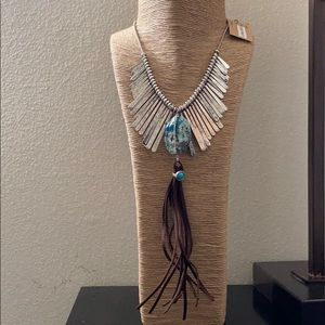 Turquoise Silver Necklace NWT